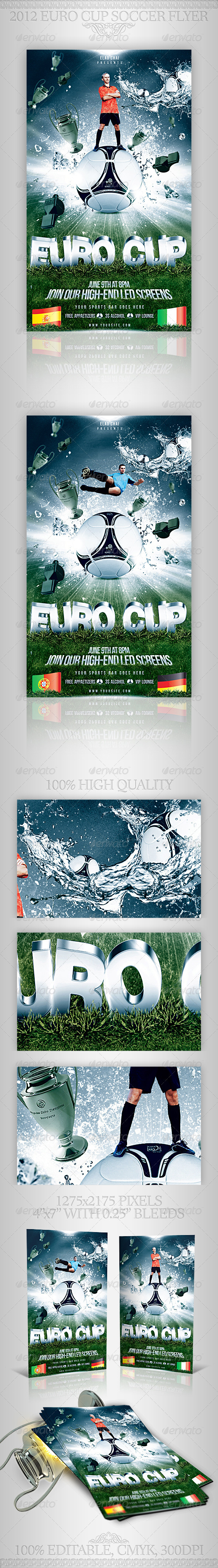 2012 Euro Cup Flyer Template - Sports Events