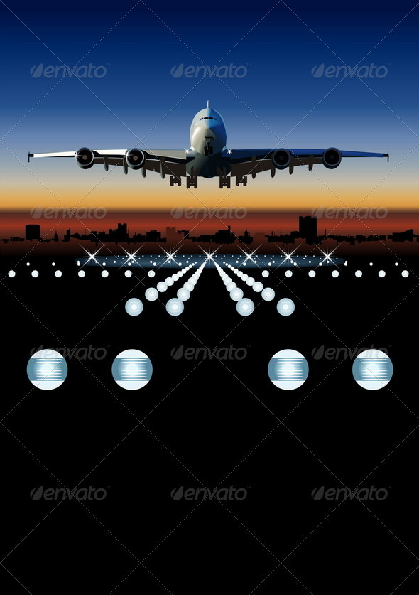 GraphicRiver Airbus at Sunrise 2479090