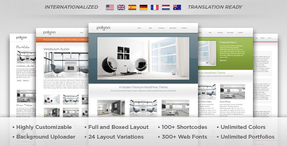 ThemeForest Polyon Futuristic WordPress Theme 682648