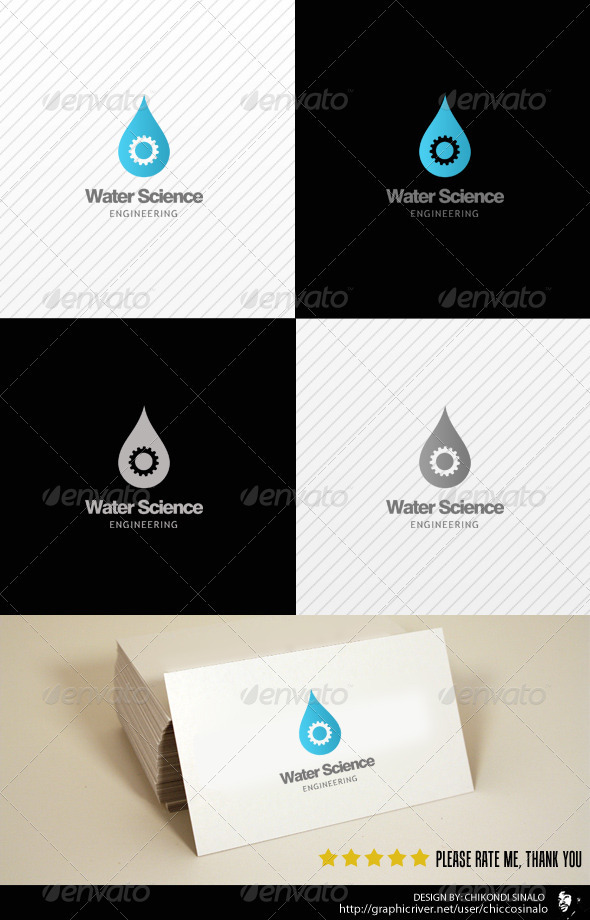Water Science Logo Template - Abstract Logo Templates
