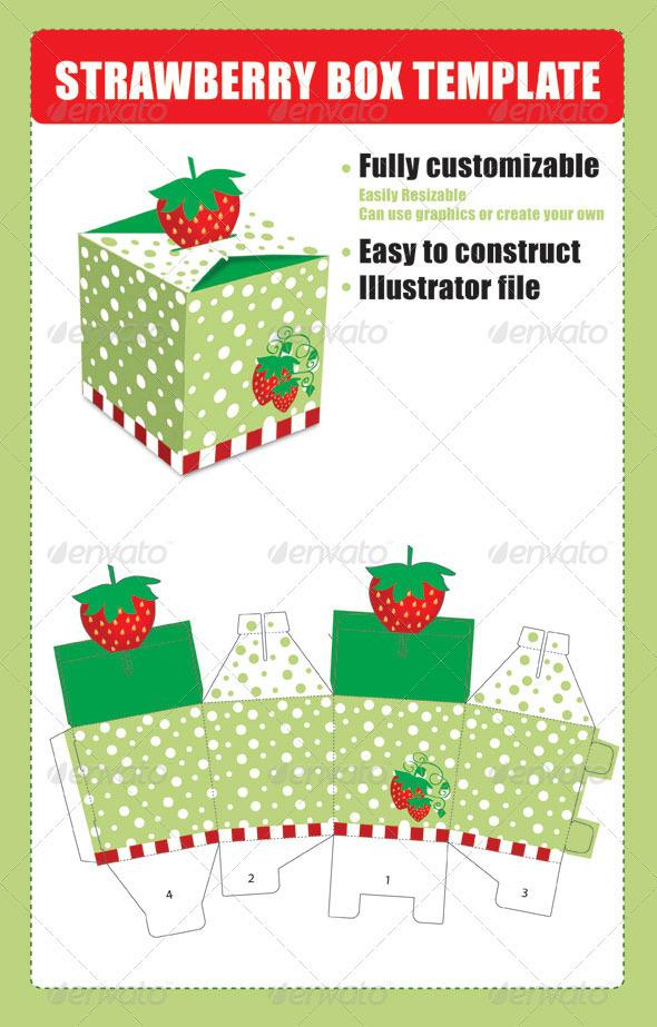 GraphicRiver Strawberry Box Template 2414370