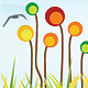 flowered grass landscape - GraphicRiver Item for Sale