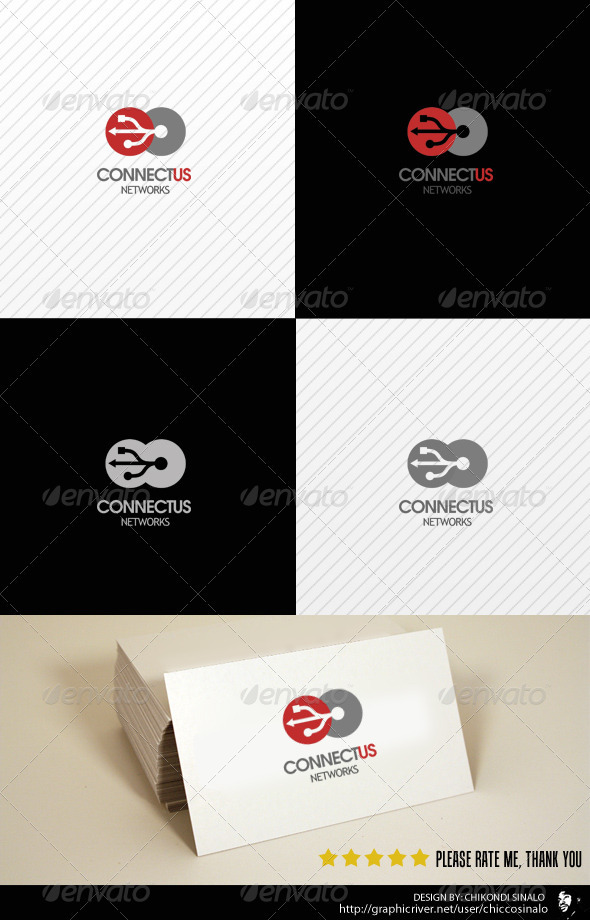 Connectus Logo Template - Abstract Logo Templates
