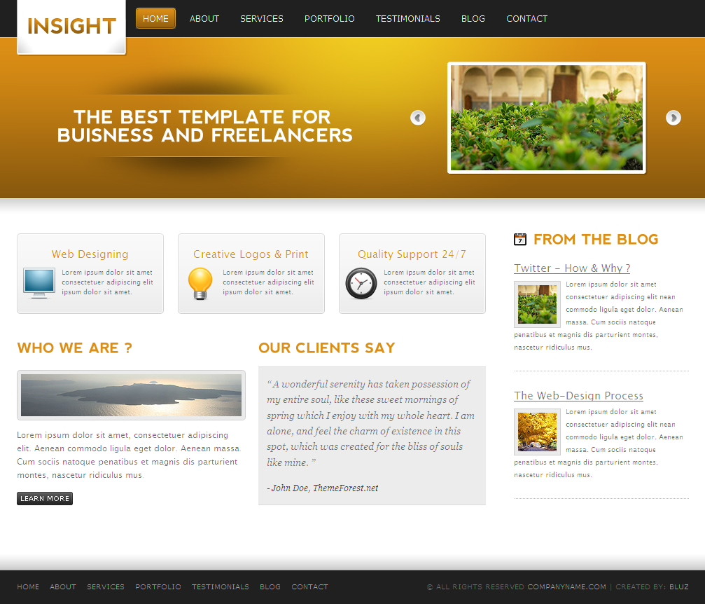 INSIGHT - 10 in 1 Premium Portfolio Template