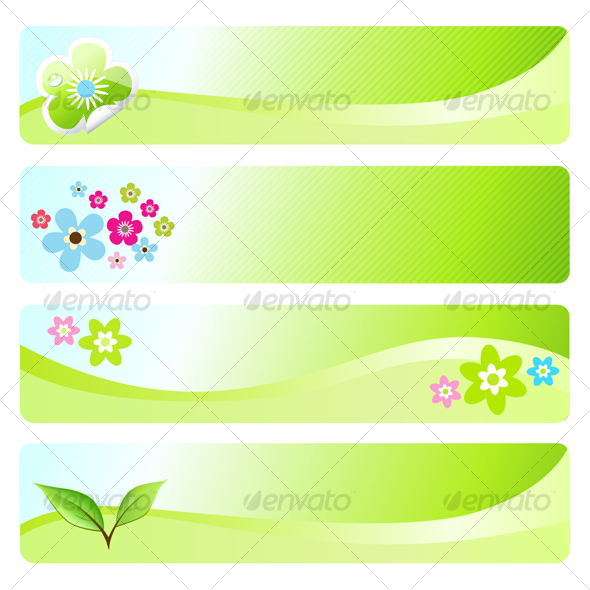 GraphicRiver Four spring banners 90784