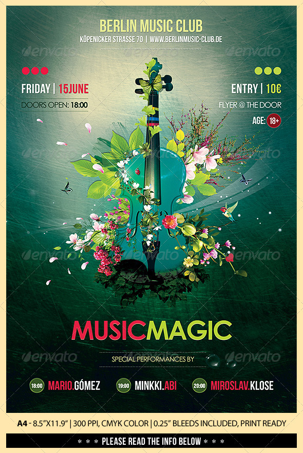 GraphicRiver Music Magic Poster Flyer 2480559