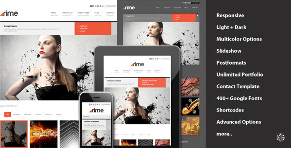 ThemeForest Rime Responsive Portfolio for WordPress 2481636
