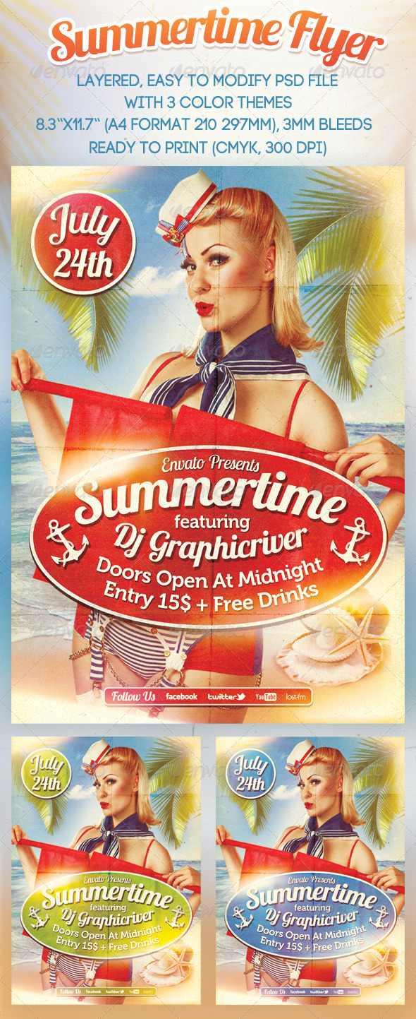 Summertime Flyer - Events Flyers