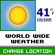 World Wide Weather - Users Can Change Forcast Locations - ActiveDen Item for Sale