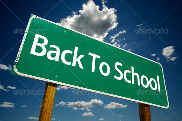 Back to School Road Sign
