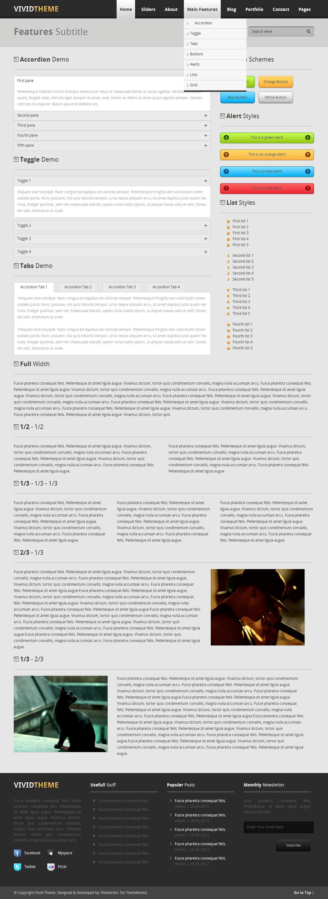 Vivid Theme - Multipurpose Portfolio HTML Template