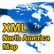 XML North America Map with text content - ActiveDen Item for Sale