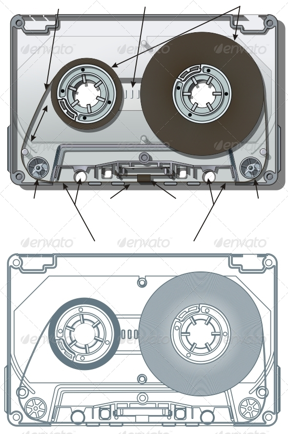 Vector Compact Cassette - Man-made objects Objects