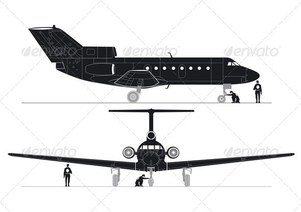 Business Jet Silhouettes