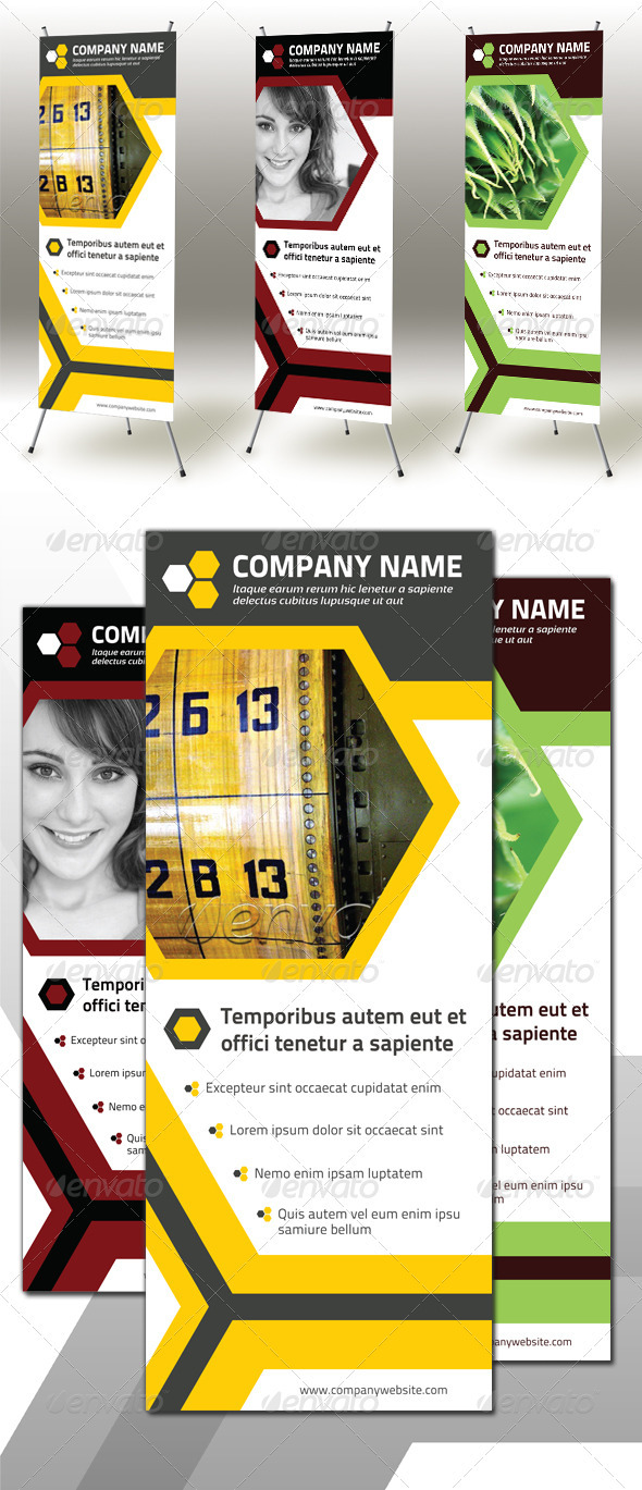 GraphicRiver Honeycomb Roll-up Banner 2451667