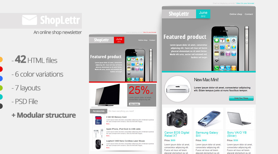 ShopLettr - Online Shop Newsletter