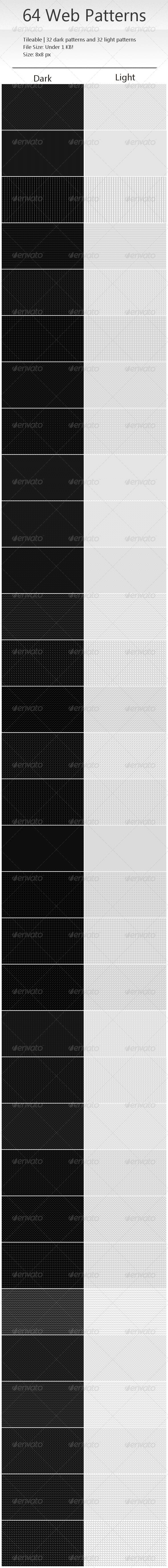 64 Tileable Pixel Web Patterns - Patterns Backgrounds