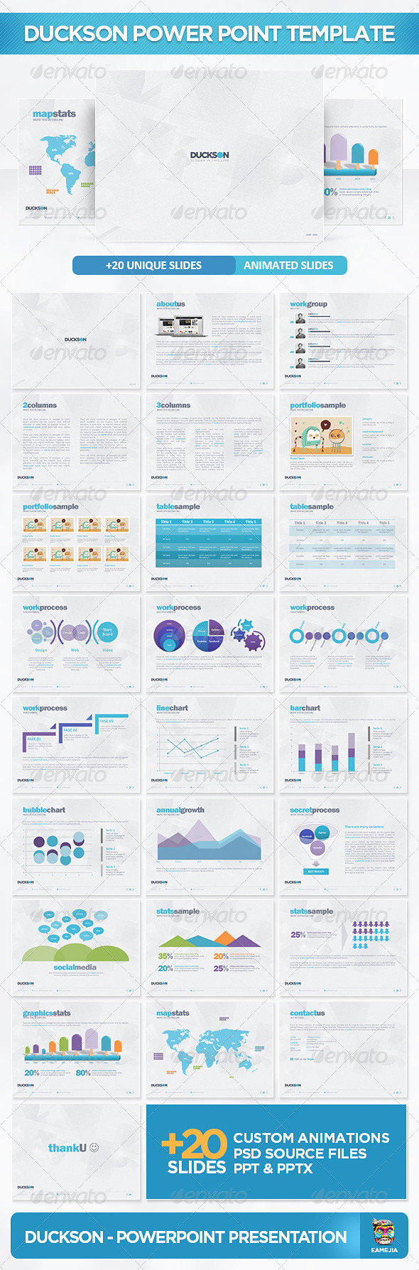 Duckson PowerPoint Presentation Template - Powerpoint Templates Presentation Templates