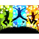 Download Vector Jumping Girls