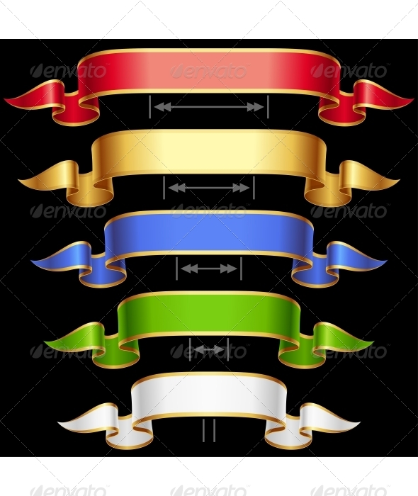 Ribbon set with adjusting length Vector frame iso