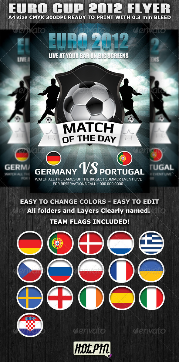 Euro Cup 2012 Football Flyer template - Sports Events