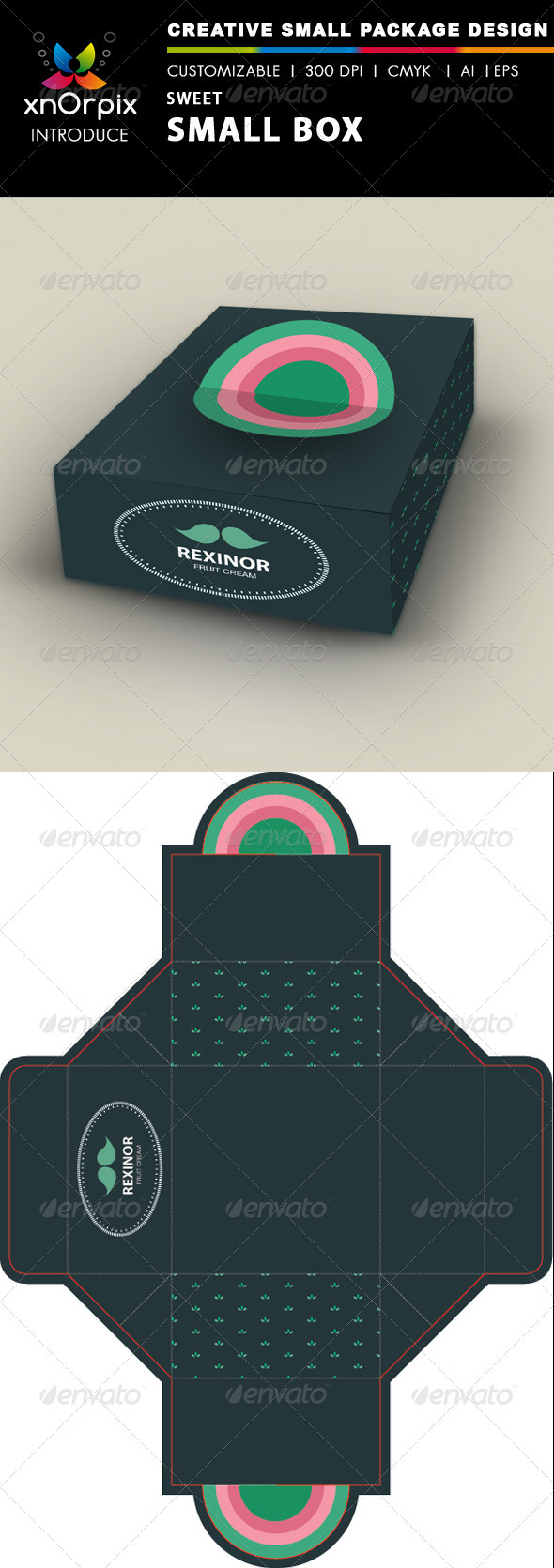 Sweet Small Box - Packaging Print Templates