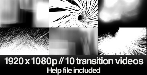 [VideoHive 2485493] 10 HD Transitions Bundle E | Motion Graphics