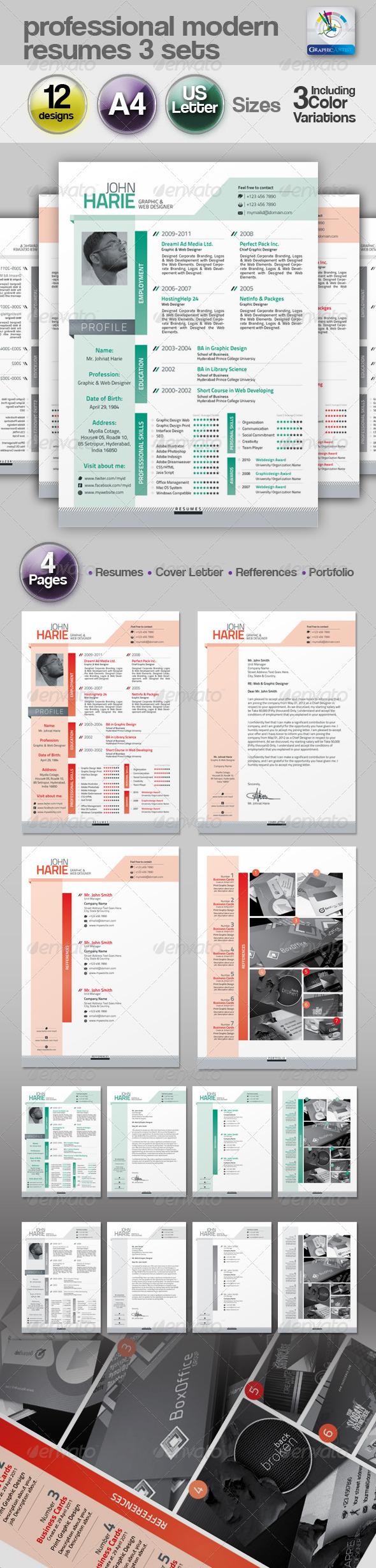 Modern Resume 3 Set