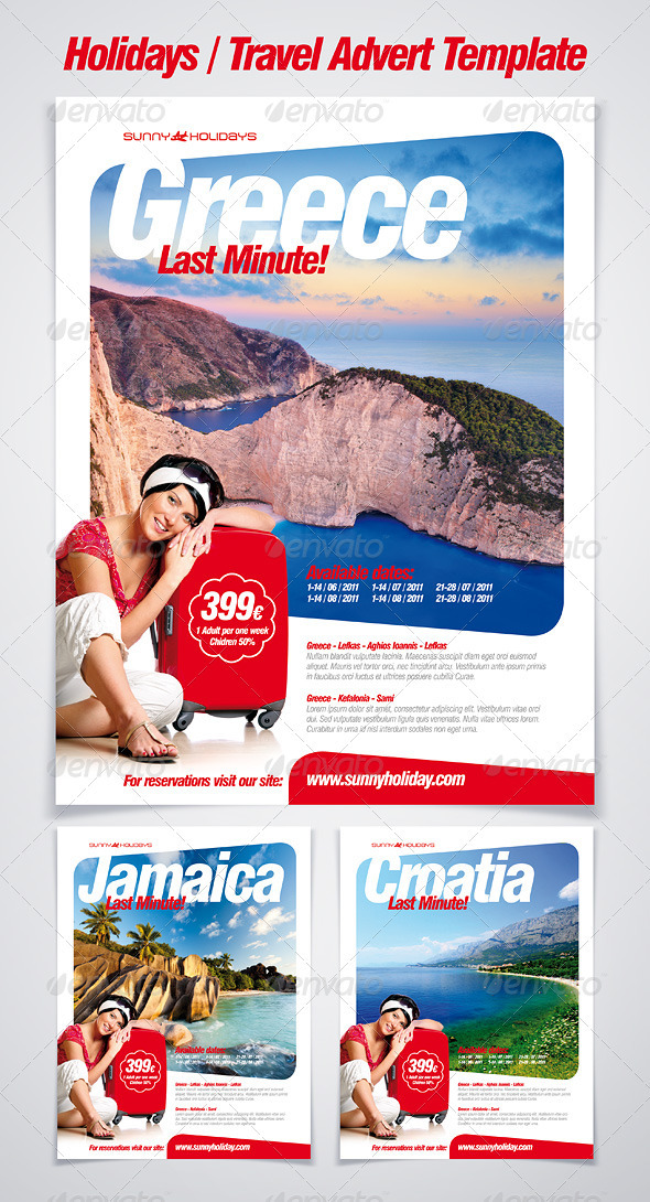 Holidays & Travel Advert / Poster