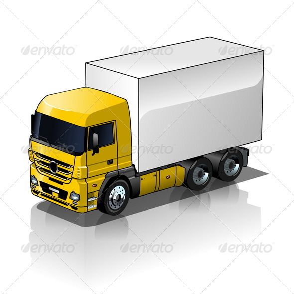 Cargo Truck - Man-made objects Objects