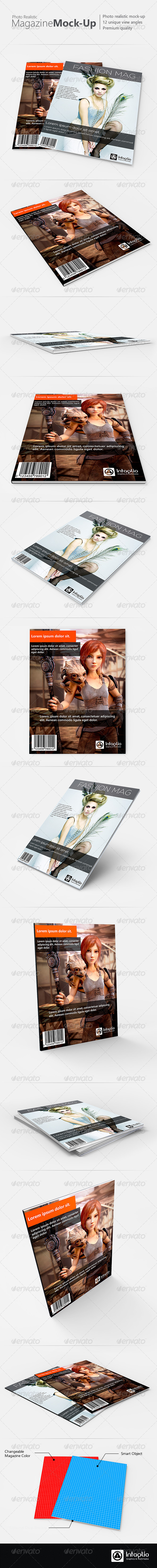 Photo-realistic Magazine Mock-Up