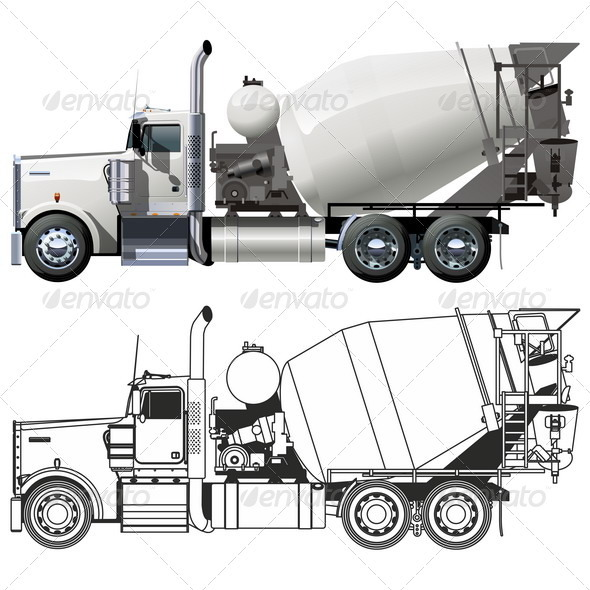 Concrete Mixer Truck Graphicriver