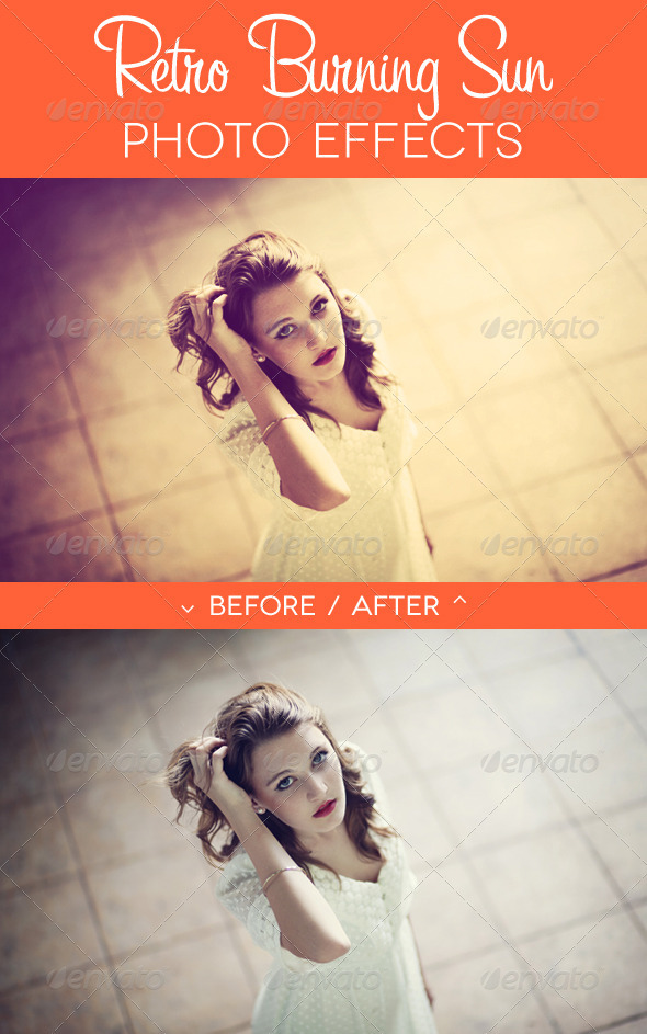 Retro Burning Sun Photo Effect - Photo Effects Actions