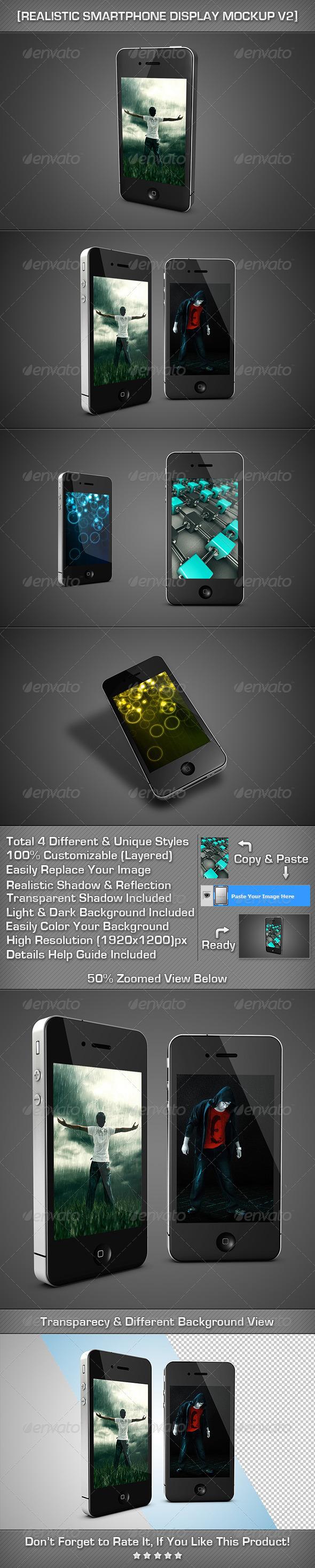 GraphicRiver Realistic SmartPhone Display MockUp V2 2488200