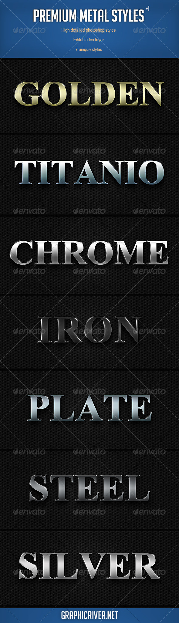 Premium Metal Styles - Text Effects Actions