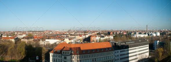 Panoramic view of Berlin, capital of Germany - Stock Photo - Images