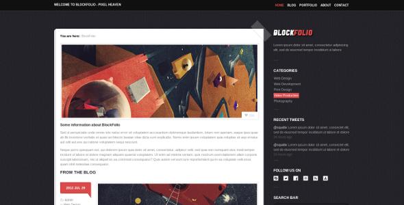 BlockFolio - Premium Portfolio HTML Template