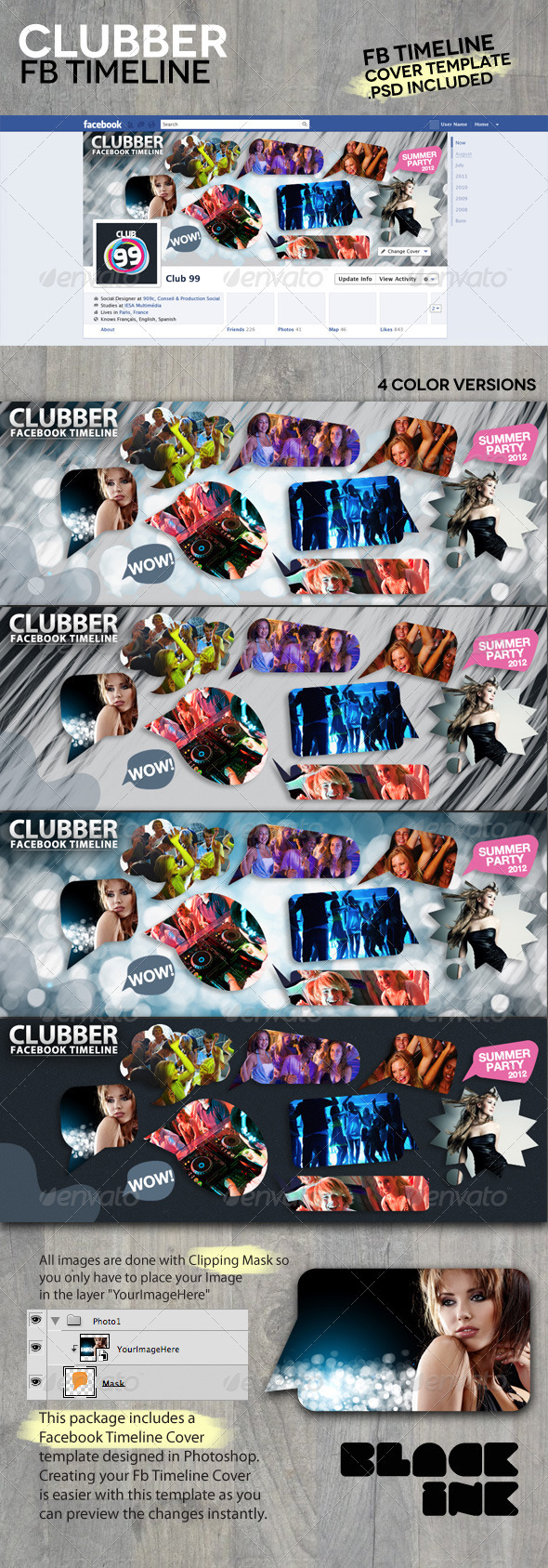 Clubber Facebook Timeline - Facebook Timeline Covers Social Media
