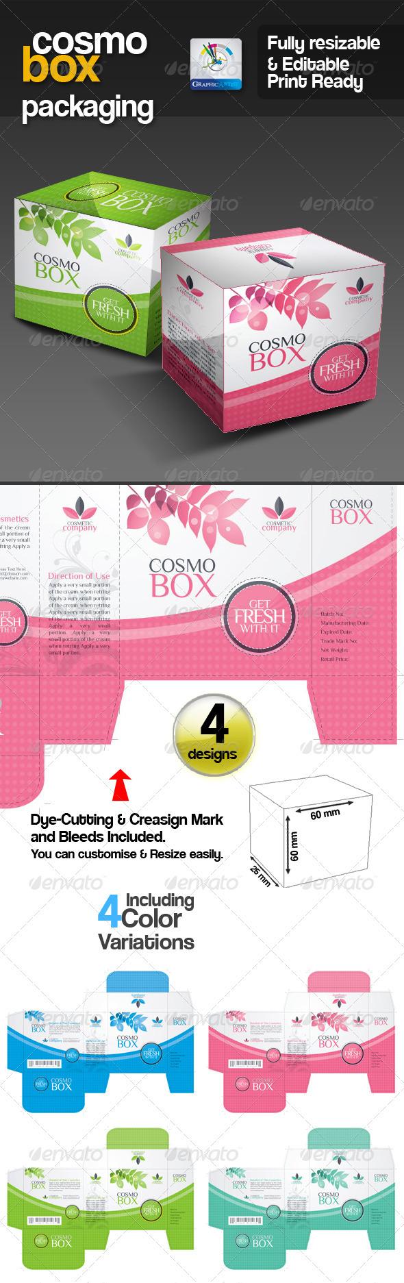 GA CosmoBox Multipurpose Packaging - Packaging Print Templates