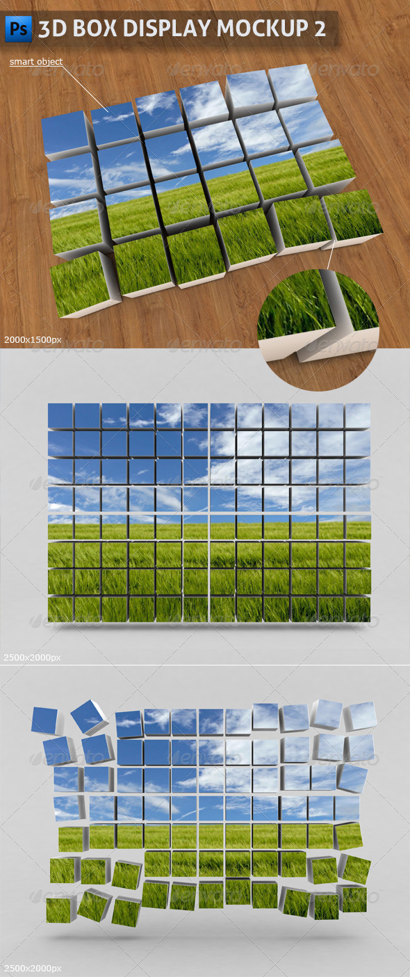 3D Box Display Mockup 2