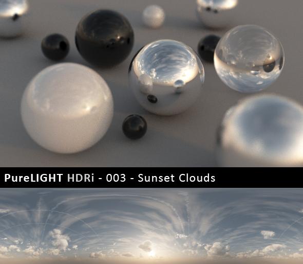 PureLIGHT HDRi 003 Sunset Clouds