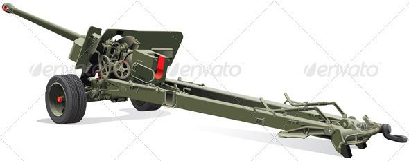 Old Field Gun - Objects Vectors