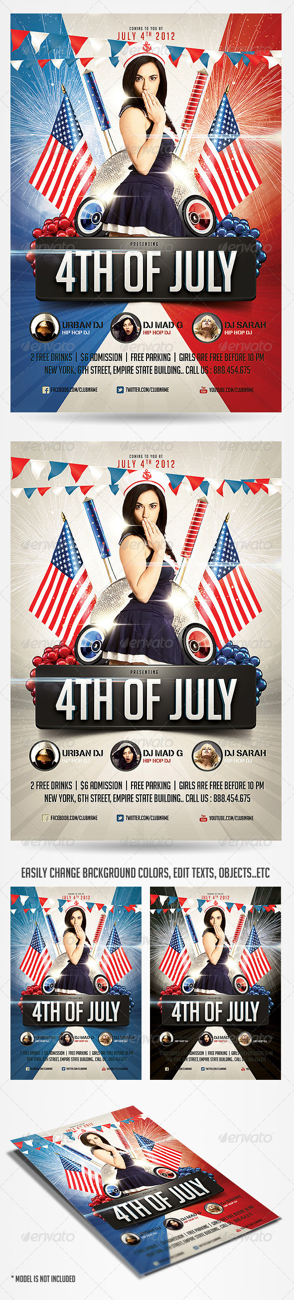 GraphicRiver 4th of July Party Flyer 2491263