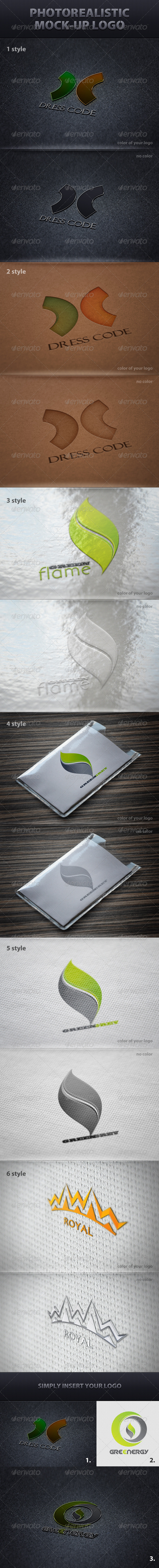 Photorealistic Mock-Up Logo - Logo Product Mock-Ups