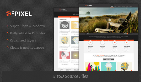 ThemeForest 0Pixel Unique Template 2491346