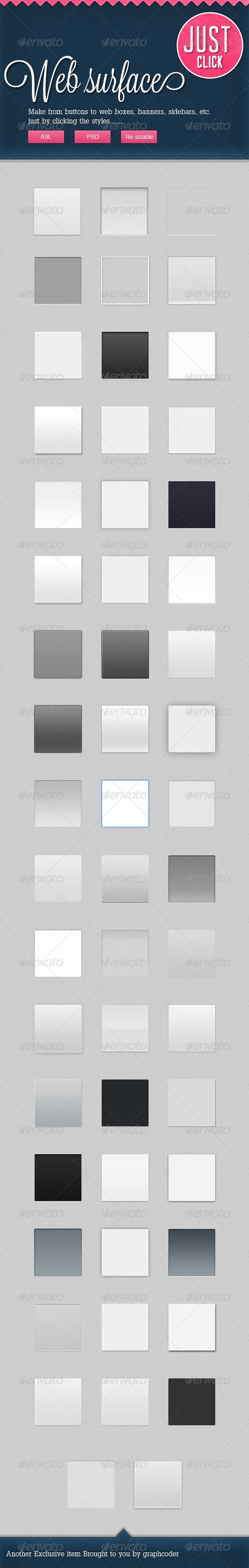 GraphicRiver 50 Web App Surfaces PSD&ASL 2491558