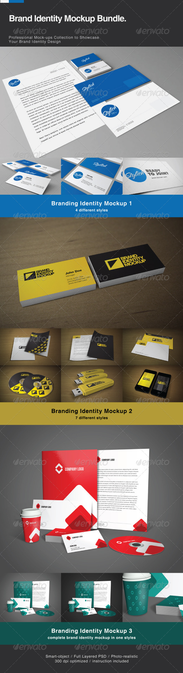 GraphicRiver Brand Identity Mock-up Bundle 2492022