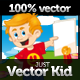 Just Vector Kid - GraphicRiver Item for Sale