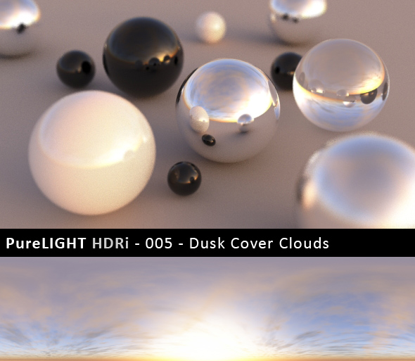 PureLIGHT HDRi 005 Dusk Cover Clouds