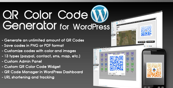 CodeCanyon QR Color Code Generator for WordPress 1870603